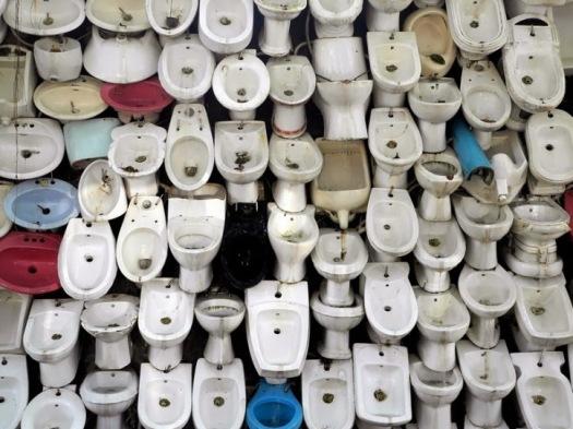 Cascada de inodoros
