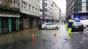 Inundaciones Sada, 2016 Calle Laguna (Fuente: twiter @vocescoruña)