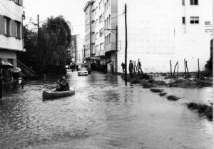 Inundaciones en Sada, 1970 calle Laguna Fuente: www.memoriadesada.com